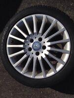 Mercedes Benz C300 Winter Tire and Rim Pkg