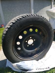 4 pneus d'hiver sur rims