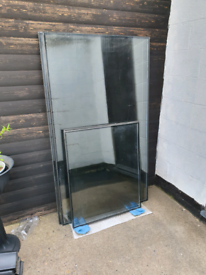 Mancave/bar toughened Smoked glass units.. prices in description.