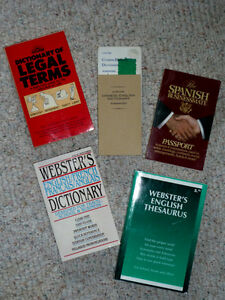 5 Dictionaries:  Spanish,Chinese, Legal Terms, English Thesaurus Cambridge Kitchener Area image 1