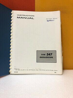 Tektronix 070-398 Type 547 Oscilloscope Instruction Manual