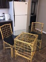 Bamboo table & 4 chairs