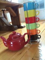 Pier One Teapot and Teacup Set