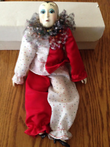 Collector Doll - New Porcelain Musical Clown