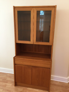 Teak China Cabinet and Display Hutch