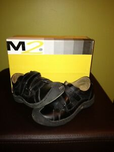 M2 leather black shoes size13 kids