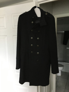 Double-Breasted Winter Coat (Black)