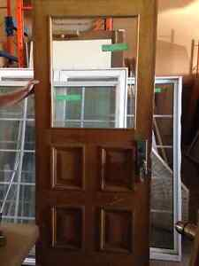 Solid Wood Period Door with Beveled Glass