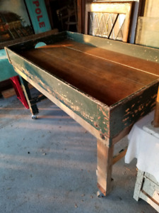 Antique Brantford Post office  sorting table