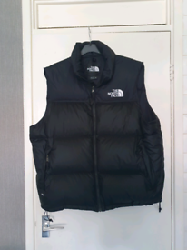 North face black gilet jacket / body warmer xxl in black