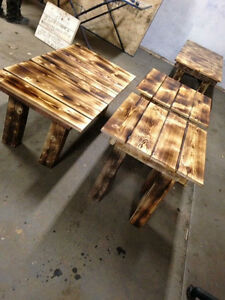 home crafted tables,signs,crib boards