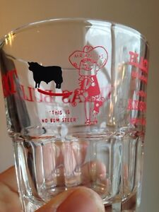 Texas Bull Shot Glass Black Angus Restaurant & Lounges Gatineau Ottawa / Gatineau Area image 1