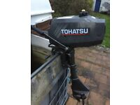 Tohatsu 2.5hp short 2 stroke fully serviced with warranty