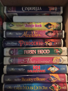 Box of VHS Movies for Kids