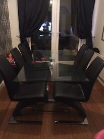 Dining table and 6 Z chairs