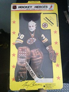 VINTAGE HOCKEY HEROES GERRY CHEEVERS SPORTROPHY CUT OUT AUTO