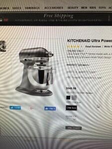 brand new kitchenaid Ultra power mixer Pewter color
