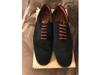 Fred Perry navy blue suede brogues - size 9