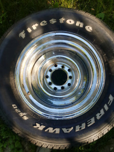 Chrome steelies 5 multi bolt. 15 inch