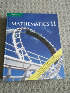 Grade 11 Nelson Mathematics Textbook - Evaluation Copy - NEW