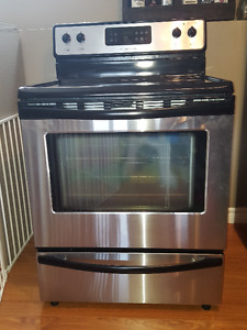 Stainless steel Frigidaire stove.
