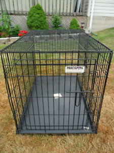 LARGE Precision Dog Crate / Cage with Tray up to 70 lbs