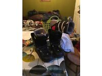 Snowboard, boots size 14uk