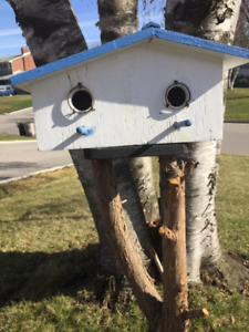 Amazing one-of-a-kind, hand-crafted BIRD HOUSES