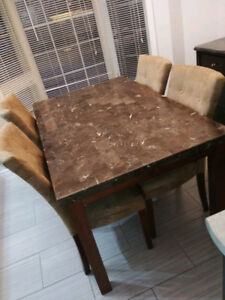 Formal 5 pcs dining table