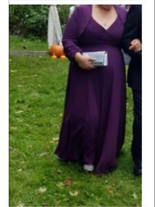 Mother of the bride/groom full length dress and jacket