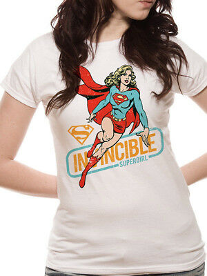 Official Supergirl T Shirt Invincible DC Comics Womens Fitted S M L XL XXL