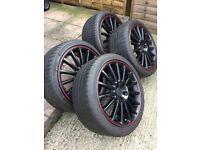 "VW R32 Black 18"" Alloy Wheels & Tires"