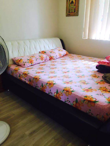 Leather King Size great condition bed with mattress Bankstown Bankstown Area Preview
