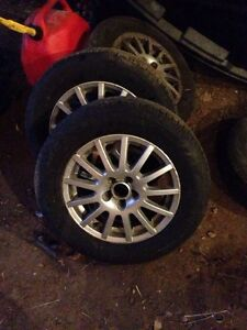 5x100 vw rims with new tiers