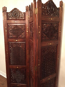 Royal, hand carved solid wood Room Divider / Screen!