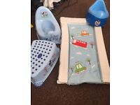 Baby changing mat potty and step mothercare Mickey Mouse