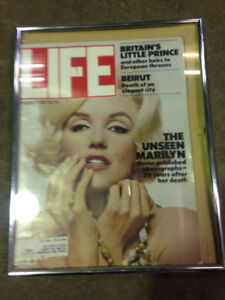 Marilyn Monroe Life Magazine 1982 Vintage in glass frame $100