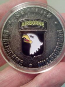 LARGE 40mm AIRBORNE BASTOGNE OPERATION EAGLE VISIT COIN.