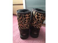 Genuine Rare Leopard Print UGG Boots