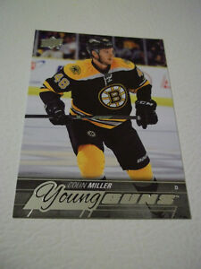 2015-16 COLIN MILLER BOSTON BRUINS YOUNG GUNS HOCKEY CARD