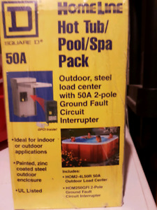 50Amp gfci squareD load center for hot tub or pool