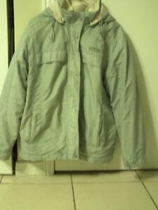 manteau bleu d ' hivers marque point zéro gr small avec capuchon