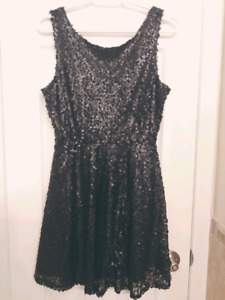 Black sequin dress - size M