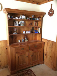 Pine china cabinet for sale