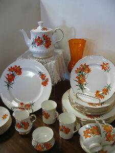 Tiger Lily / Prairie Lily Dishes -- FROM PAST TIMES Antiques - 1