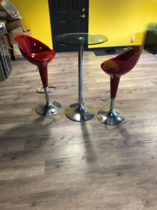 Bar Stool and Table Set for Sale