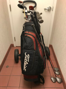 For Sale, -Titliest Golf Bag Golf Clubs and  BagBoy, Golf Cart