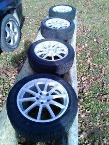 nice 17'' mag wheels 5x110 bolt patthern