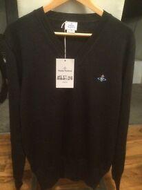 Vivienne Westwood V-neck jumper BNWT charcoal (size L & XL available)