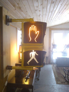 Vintage Cross walk sign-see pictures-